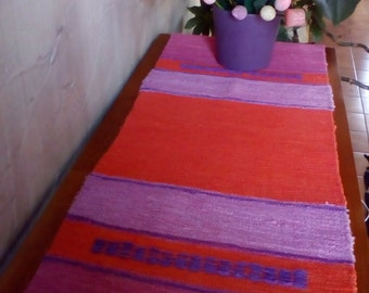 Bohemian Style Table Runner Handwoven Cotton