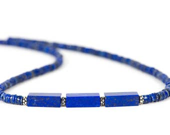 Lapis Lazuli Necklace, Handmade Gemstone Jewelry, Gemstone necklace, Handmade Jewelry, Gemstone Jewelry