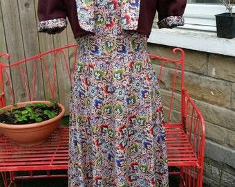 1940's dress and bolero