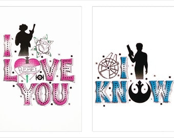 A4 Star Wars I Love You... I Know Print