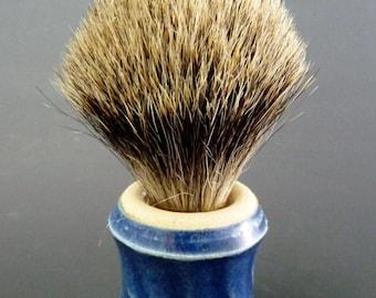 Stoneware Shaving Brush, Badger Knot 18/60mm, Cobalt Blue Semi-Matte