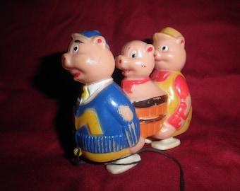 Luis Marx Toy Three Little Pig Walk Down Ramp