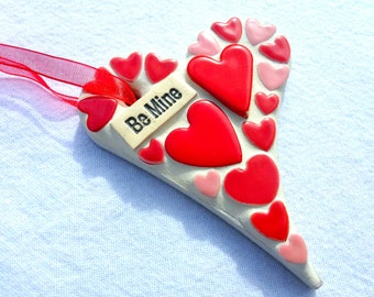 Be mine heart, mosaic love heart, Valentine's gift, proposal gift, be my valentine, marry me gift, wedding gift, engagement gift, be my love