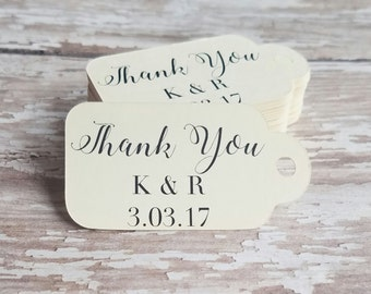 Mini Thank You Tag, Thank You Tag, Wedding Tag, Bridal Shower Tag, Baby Shower, Party Favor Tag, Hang Tag, Distressed Tag, Nail Polish (002)