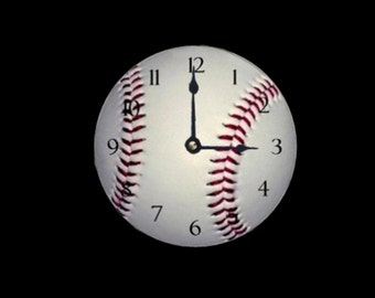 Baseball CD clock