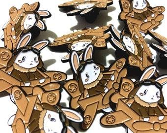 Aviator Bunny Soft Enamel Pin