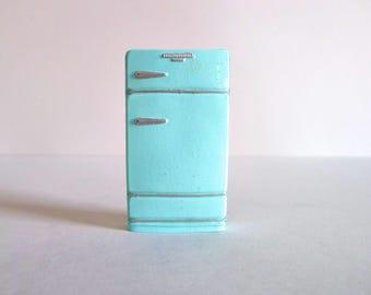 Vintage Dollhouse Refrigerator Magnet in Robin's Egg Blue