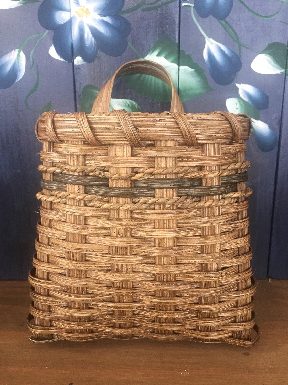 Flower Baskets Usa : Handmade basket wall flower made in usa