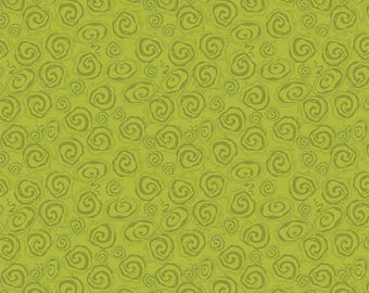 Fantine Green Swirl by Lila Tueller for Riley Blake, Green Swirl Fabric, Green Fabric