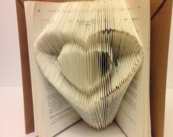 Lover's Folded Heart Book