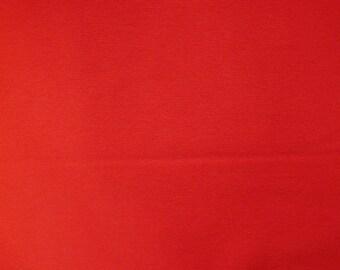 Fabric - cotton/elastane rib fabric - 240gsm - Red