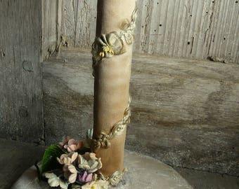 antique French boudoir hatstand ribbonwork