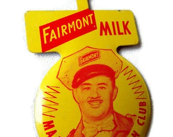 "Promotional Advertising; Fairmont Milk (Fairmont Creamery Company-Omaha, Nebraska) Promotional Advertising ""Major Eddie Fan Club"" Pocket Tab"