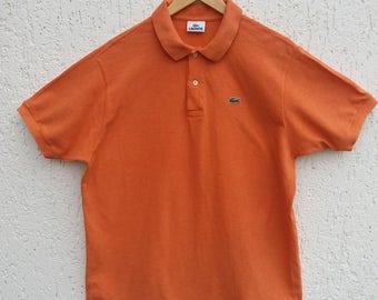 Vintage Lacoste Casual Dark Orange Shirt Size Large