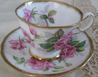 ROYAL STAFFORD English Bone China Cup and Saucer, Berkeley Rose