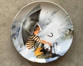 """Vintage 1982 Donald Zolan Collectible Plate """"Touching the Sky,"""""""