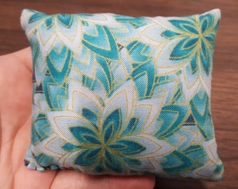 Blue-Green Floral Lavender Pillows