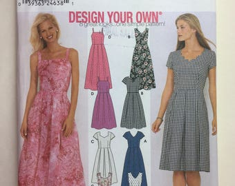 Simplicity 9559 Design Your Own Misses'/Miss Petite Dress in Two Lengths Sizes 6,8,10,12 Uncut