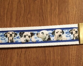 Dalmatian Key Chain Wristlet Zipper Pull