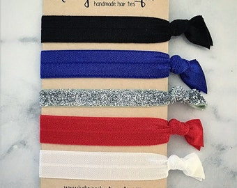 Elastic Hair Ties - Patriot Collection