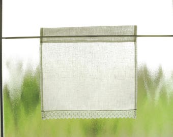 50 x 50 cm wool-white linen curtain