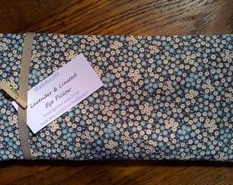 Lavender Eye Pillow (blue/green floral)