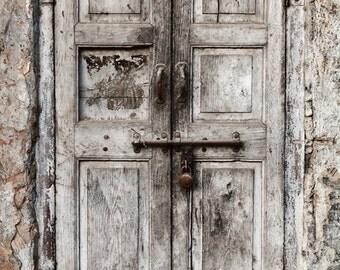 Peeling old Doors Photo Drops Faded wood planks Door Vinyl photography backdrop for newborns studios photoshoot  XT-4839