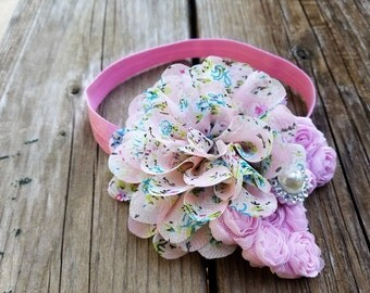 Hair Accessory, Girls Accessory, Baby Headband, Flower Headband, Spring Flower, Valentines Day, Baby Headband,Photo Prop, Flower and Bow