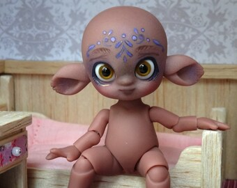 Tiny BJD Séane chocolate skin + Face-up, Feadoll