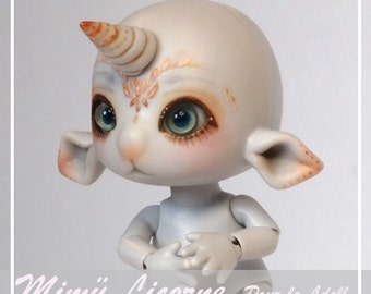 Tiny BJD, Fëadoll, Mimü Unicorn grey skin, Pro-cast