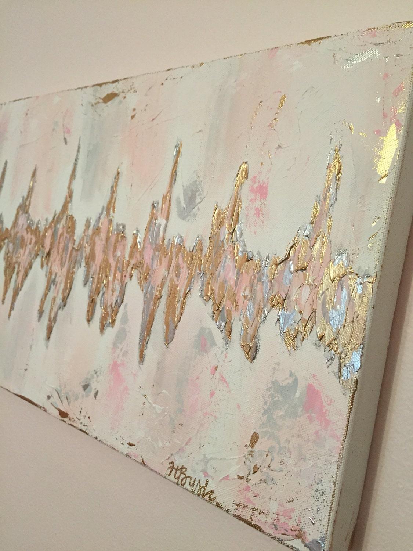 Baby bed heartbeat - Custom Sonogram Heartbeat Painting Baby Heartbeat Art Ultrasound Heart Rhythm Abstract Heartbeat