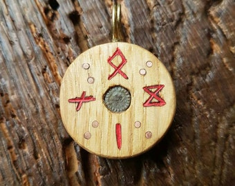 Odin cross norse asatru sunwheel pendant k
