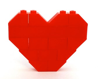 LEGO® red heart brooch - jewelry