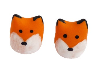 Bike Belle valve caps, fox. Perfect gift for a cyclist
