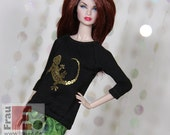 "Fashion Doll Sweater ""Lizard"" - gold"