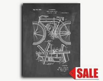 Patent Print - Motor Powered Bicycle Patent Wall Art Poster