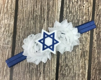 Star of David  headband, hanukkah headband, baby headband, holiday headband, hanukkah, jewish headband, Star of David
