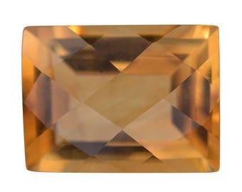 Brazilian Citrine Loose Gemstones Checkerboard Baguette Cut 1A Quality 12x9mm TGW 4.00 cts.