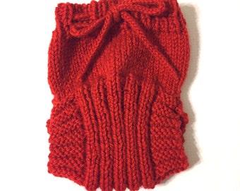 Custom Wool Soaker - Hand Knit Wool Soaker - Wool Diaper Cover - Diaper Cover - Red Wool Diaper Cover