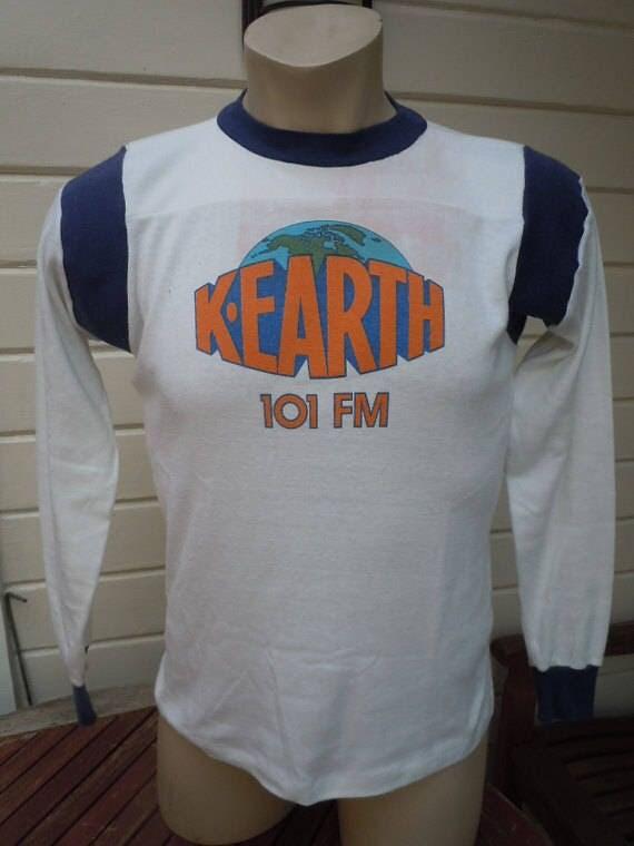 Size M+ (47) ** Rare 1970s K-Earth FM 101 Shirt (World Famous L.A. Deadhead Radio Station) rlWEBZOs
