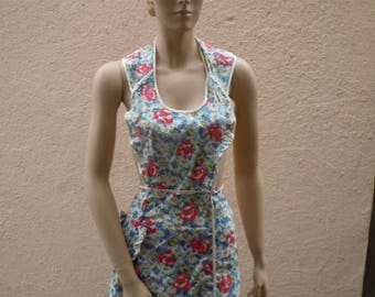 Bust:  Flexible Sizing  ** 1940s-50s Floral Apron