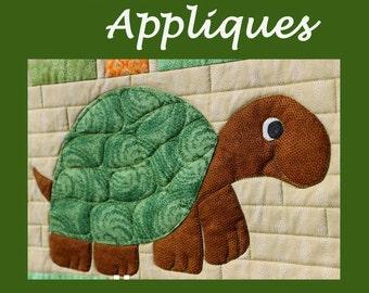 Turtle Applique patterns - instant PDF download
