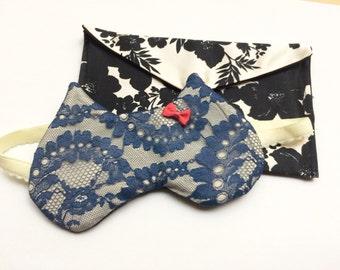 "Sleep mask, lace, ""Kitty"" model / sleeping mask / masks by"