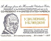 A Post-election Message from Vladimir Putin Postcard/Coaster