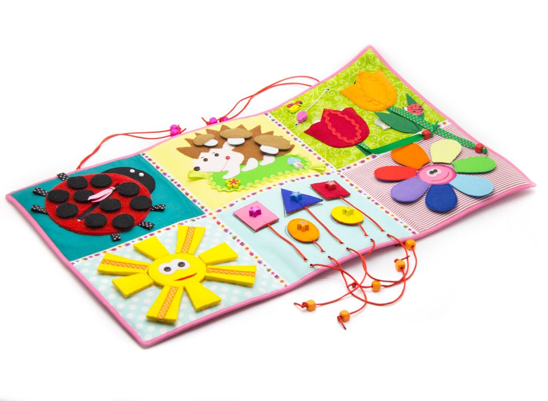 developing baby play mat busy mat felt play mat baby. Black Bedroom Furniture Sets. Home Design Ideas