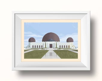 The Griffith Observatory Print