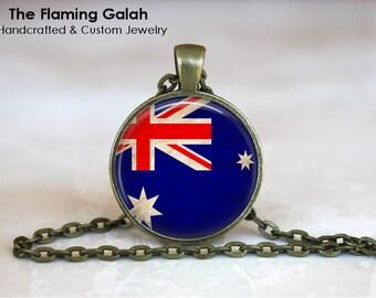 AUSTRALIAN Flag Pendant • Australia Flag • Aussie Flag • Southern Cross • Australia Jewellery • Gift Under 20 • Made in Australia  (P1312)