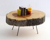 Juniper Slab Table - Mid Century Modern Miniature