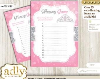 Princess Tiara Memory Game For Baby Shower Printable Card For Baby Tiara  Shower DIY U2013 Crown