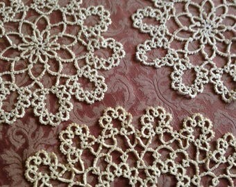 3 Tatted Lace Doilies